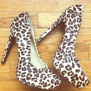 Brown Multi leopard Print heels